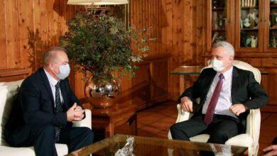 صورة فرنجية استقبل السفير الروسي الجديد في لبنان