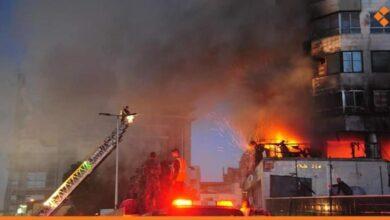 صورة حريق في الباكستان السورية