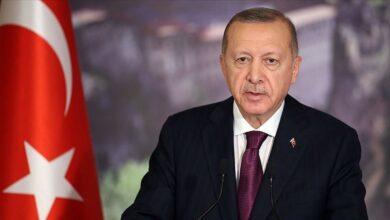 صورة اردوغان يشجع على رفع العقوبات عن ايران
