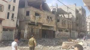 """صورة طائرات الاحتلال تقصف منزلًا في منطقة """"المشتل"""" غربي مدينة #غرة"""