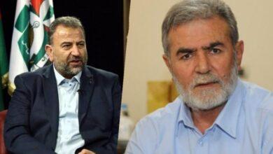 صورة لقاء يجمع ما بين حركة الجهاد الاسلامي و المقاومة الاسلامية حماس