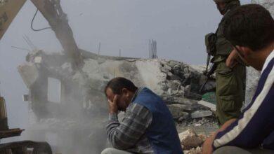 صورة الكيان الغاصب يهدم منازل فلسطينية
