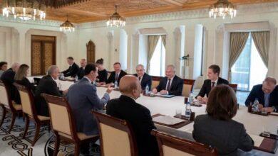 صورة تعزيز التعاون وتوسيع العمل بين سوريا وروسيا